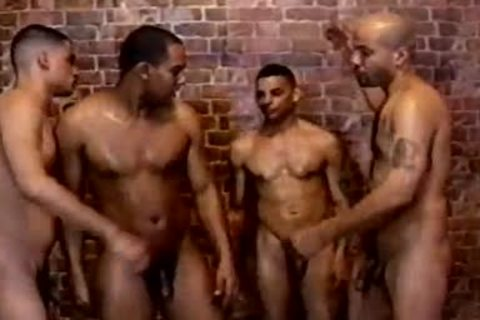 sexy And curly homo arsehole invasion In The Shower