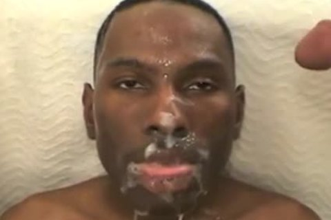 black twink Drowned With White spooge