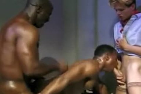 Interracial Prison 3some