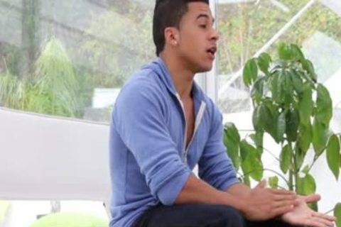 Latin legal age teenager Takes large dick At Gaycastings