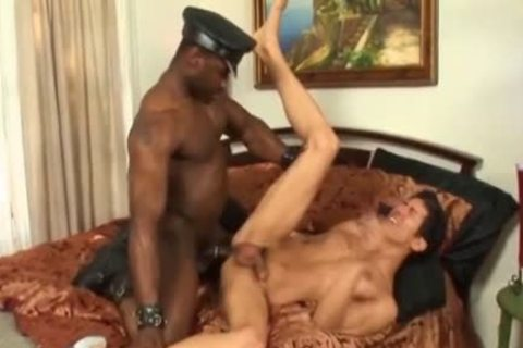 Hard young man Takes A darksome penis doggy style