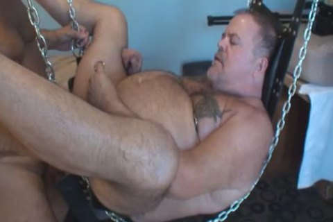 greater quantity Play Party Footage, Pt two. A yummy Piggy Sub Bear (Verytwisted On Xtube) Sucks My cock (BeartoyLA) And Peterprinciple (on Bbrt) Too.  Then Verytwisted Hops In The Sling To acquire Tag Team nailed By Us one as well as the other An