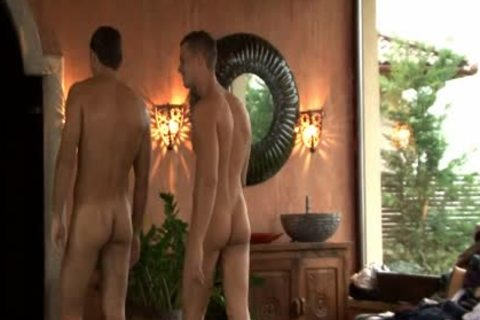 Three young homosexual studs Enjoying Sex jointly