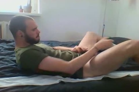 Me Getting nice-looking With Military Sneakers And White Socks, Wearing My Sweaty Army T Shirt That Smells Very Manly