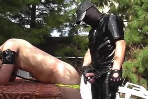 A lad Dressed In Latex Who Wants To bang