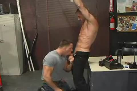 Two Muscle males In Leather Boots