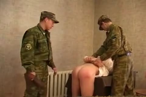 Russian Army spanking And nailing