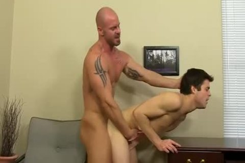 excited Boss Mitch Vaughn pounds Dustin Fitch In His butthole