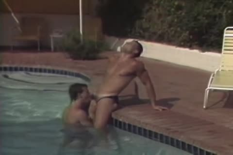 Pumping His Bumhole By The Pool.