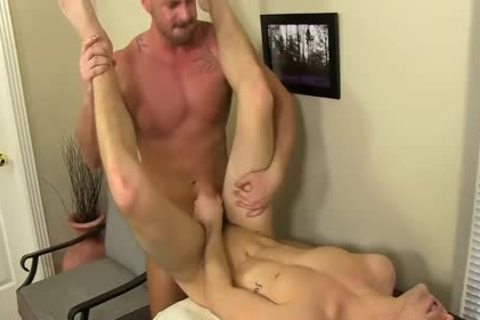 excited Boss Mitch Vaughn bonks Dustin Fitch In His arsehole