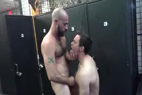 slutty Daddy plows Pup In Locker Room