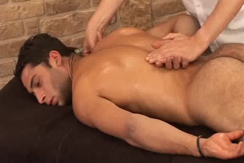 sexy Hunky Adrian Getting good Sensual Massage On His Searing Body And Hard Tool
