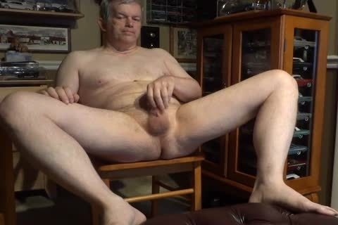 stripped 60 Year old Daddy Masturbating