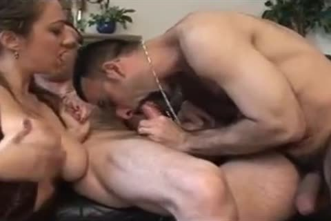 Two French bisexual men With Marie Lynne