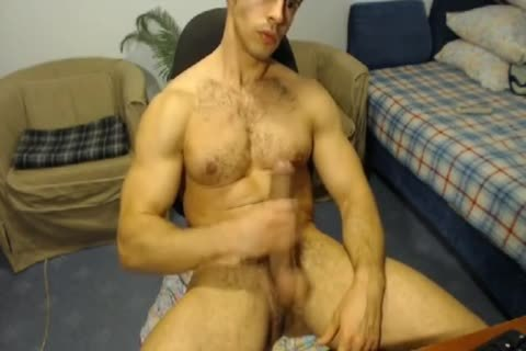 pumped up Hunk With A Horse penis Jerks Off And Cums