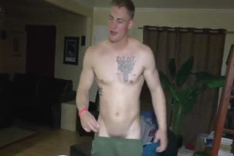 cute Straight Marine At nude Party