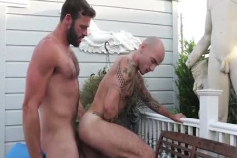hairy homosexual anal stab