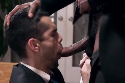 Giving Your dark Boss A fellatio And Getting Barebacked
