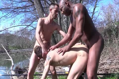 Spanish three-some In The River