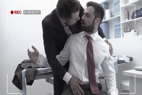 Riding, giving a kiss, pumped up, Office, Uniforms