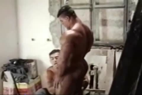 Brasil Bodybuilders enormous wazoo boned By Hunk