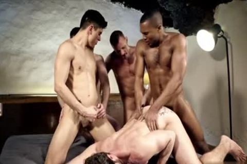 slutty gay double penetration With cumshot