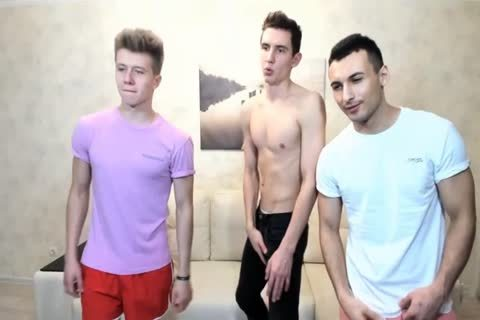 3 Russian gracious boyz With Great Round asses,wonderful dicks On web camera