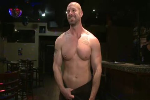 Muscle gay tied With cumshot