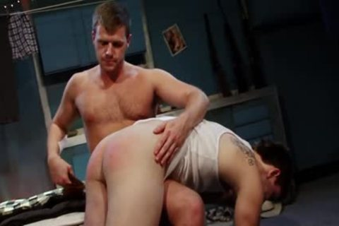Spanked And boned For engulfing Himself