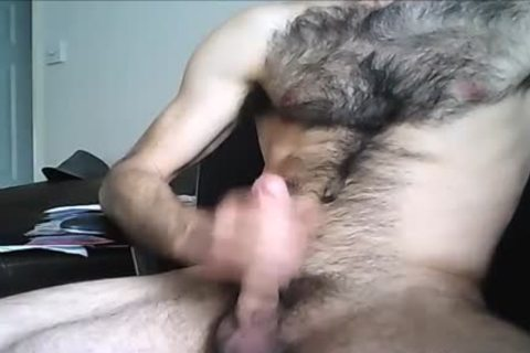 hairy Hung dude discharges A large Load