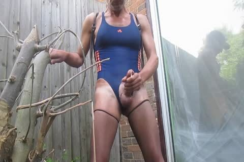 Outdoor sperm In Swimsuit And pantyhose