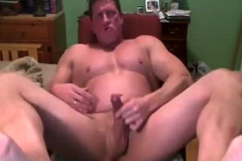 Hank Jerks Off And Cums On web camera