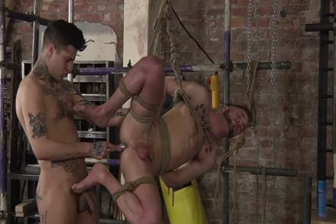 young gay Koby Lewis bound And pounded Hard By Mickey Taylor