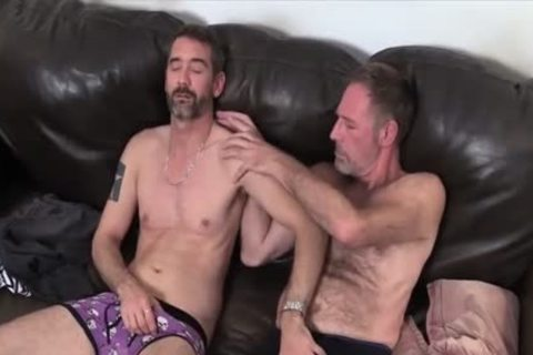 Two Dads fucking On The couch pounded