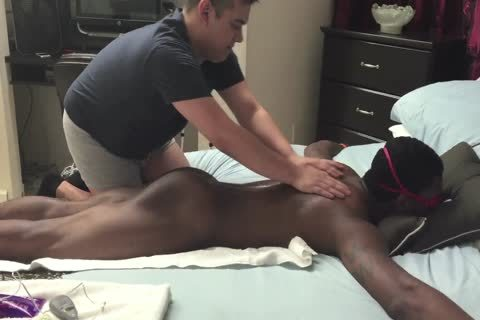 Chocolate cock Serviced In A Gloryhole