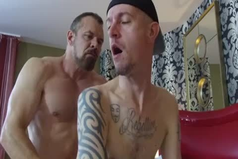 Robert Rexton receive's banged By Muscle Daddy's Max Sargent & Chance Caldwell