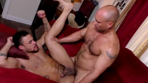The DILF Diaries - John Magnum and Beaux Banks butthole Licking Nail