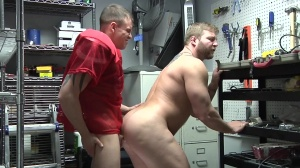 Janitor's Closet - Colby Jansen and Darin Silvers butt Love