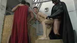 Batman V Superman : A gay XXX Parody - Trenton Ducati with Dario Beck butthole job