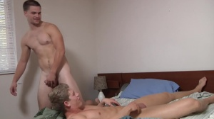 Blocking The Roommate - Jimmy Johnson with Brett Carter butt Hook up