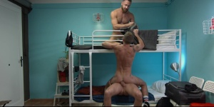 Hostel Takeover - Damon Heart with Logan Moore ass Hook up