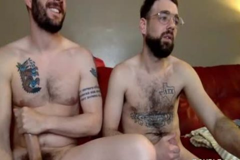 Two gays Have Steamy Sex On The Red Sofa