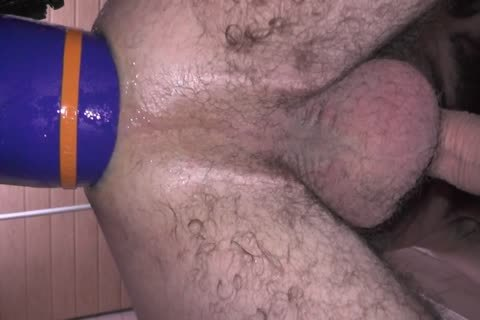deep butthole butthole Wrecking With throbbing dildo