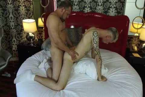 Robert Rexton gets poked By Muscle Daddies Max Sargent & Chance Caldwell