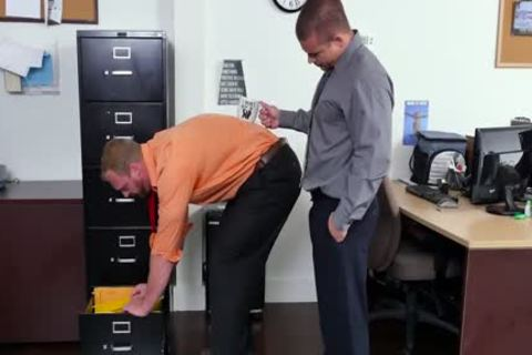 GRAB ass - new Employee receives Broken In By The Boss, Adam Bryant