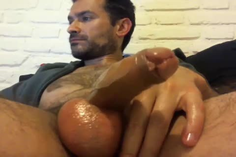 Oiled Up Daddy loves To jack off Himself Off