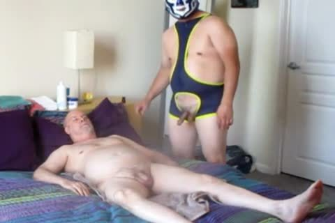 one greater amount Luchador master Demands penis Dedication.