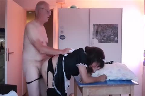 Maid Sissy Cleans house Sucks dong receives slammed