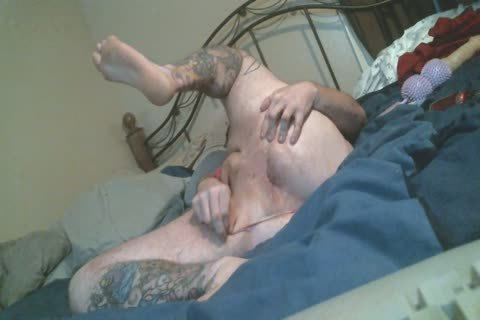 Harity fat Bear spreads ass In belt pants Rides toy