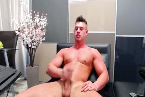Aiden Kay - Flirt4Free - pumped up Blue Eyed cam stud Strokes His enormous ramrod